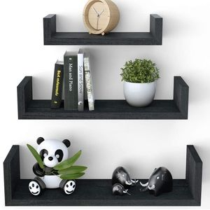 🎀3 solid wood Floating Shelves🎀